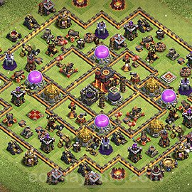 Base plan TH10 Max Levels with Link for Farming 2021, #147