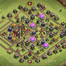 Base plan TH10 Max Levels with Link for Farming 2021, #148