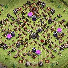 Base plan TH10 Max Levels with Link for Farming 2021, #149