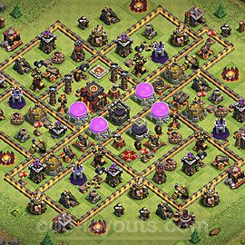 Base plan TH10 Max Levels with Link for Farming 2021, #151