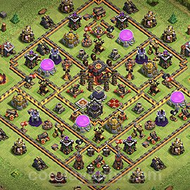 Base plan TH10 Max Levels with Link for Farming 2021, #155