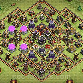Base plan TH10 Max Levels with Link for Farming 2021, #156