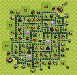 Base plan TH10 (design / layout) for Farming, #2