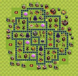 Base plan TH10 (design / layout) for Farming, #3