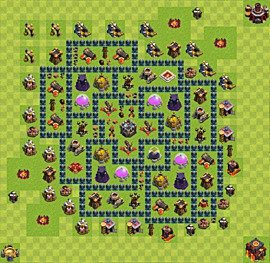 Base plan Town Hall level 10 for farming (variant 37)