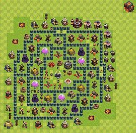 Base plan Town Hall level 10 for farming (variant 38)