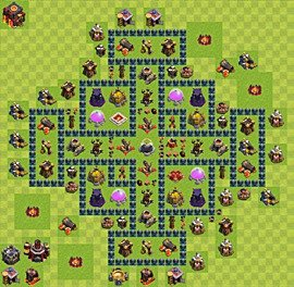 Base plan Town Hall level 10 for farming (variant 39)
