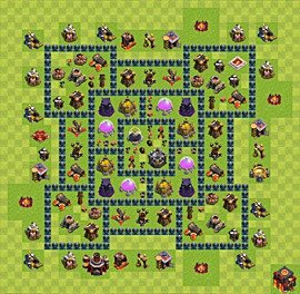 Base plan TH10 (design / layout) for Farming, #4