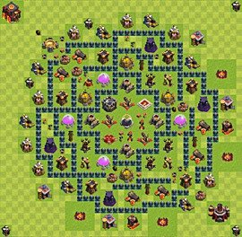 Base plan Town Hall level 10 for farming (variant 40)