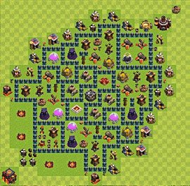 Base plan Town Hall level 10 for farming (variant 41)