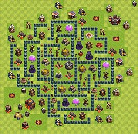 Base plan Town Hall level 10 for farming (variant 42)