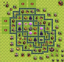 Base plan Town Hall level 10 for farming (variant 43)