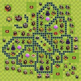 Base plan Town Hall level 10 for farming (variant 44)