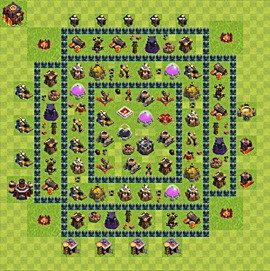 Base plan Town Hall level 10 for farming (variant 46)
