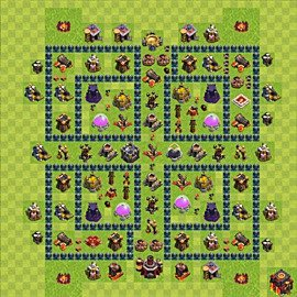 Base plan Town Hall level 10 for farming (variant 47)