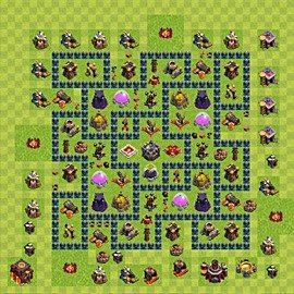 Base plan Town Hall level 10 for farming (variant 48)