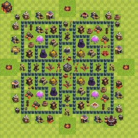 Base plan Town Hall level 10 for farming (variant 49)