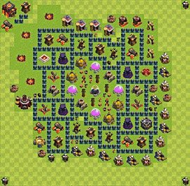 Base plan TH10 (design / layout) for Farming, #5
