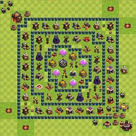 Base plan Town Hall level 10 for farming (variant 50)