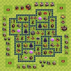 Base plan Town Hall level 10 for farming (variant 51)
