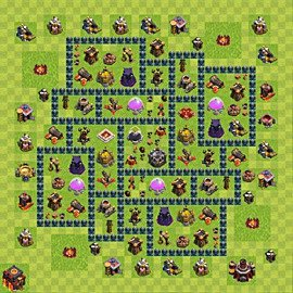 Base plan Town Hall level 10 for farming (variant 52)