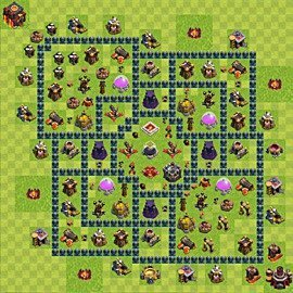 Base plan Town Hall level 10 for farming (variant 53)