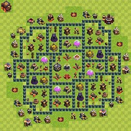 Base plan Town Hall level 10 for farming (variant 54)