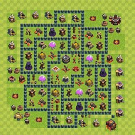 Base plan Town Hall level 10 for farming (variant 55)