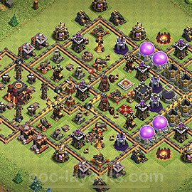 Base plan TH10 Max Levels with Link for Farming 2020, #73