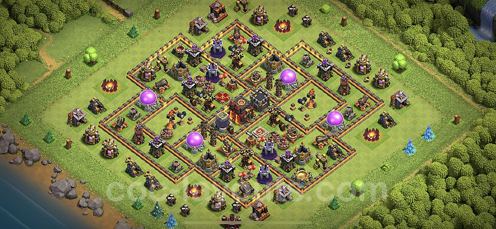 Base plan TH10 Max Levels with Link for Farming 2020, #131
