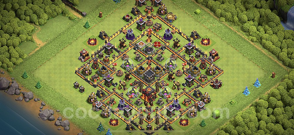 Base plan TH10 (design / layout) with Link for Farming 2020, #133