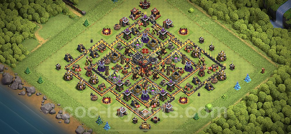 Base plan TH10 (design / layout) with Link for Farming 2020, #137