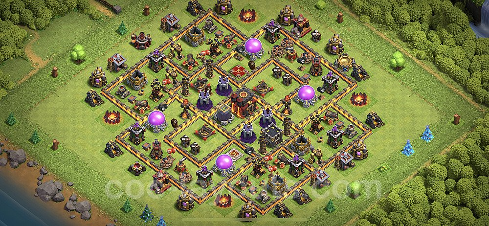 Base plan TH10 Max Levels with Link for Farming 2020, #140