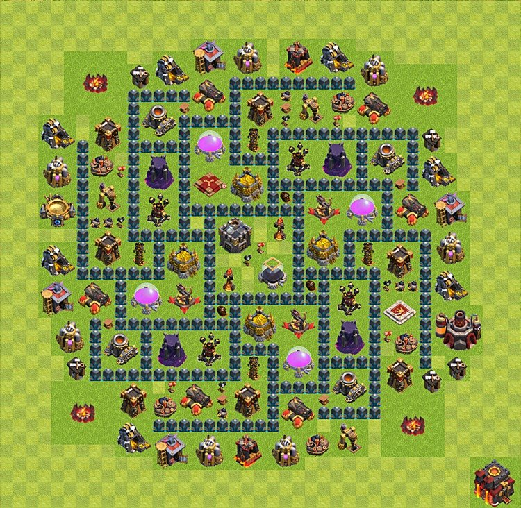 Layout De Farm Clash Of Clans N 237 Vel Da Centro De Vila 10
