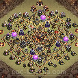 TH10 Anti 2 Stars War Base Plan with Link, Copy Town Hall 10 Design 2020, #10