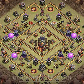TH10 Anti 2 Stars War Base Plan with Link, Copy Town Hall 10 Design 2020, #11