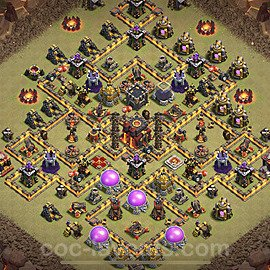 TH10 Anti 2 Stars War Base Plan with Link, Copy Town Hall 10 Design 2020, #13