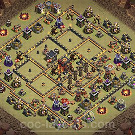 TH10 War Base Plan with Link, Copy Town Hall 10 Design 2020, #19
