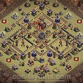TH10 War Base Plan with Link, Copy Town Hall 10 Design 2020, #20