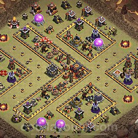TH10 Anti 3 Stars War Base Plan with Link, Copy Town Hall 10 Design 2020, #21