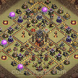 TH10 Anti 3 Stars War Base Plan with Link, Copy Town Hall 10 Design 2020, #22