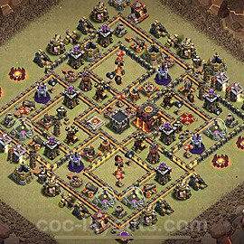 Die Clan War Base RH10 + Link 2020 - COC Rathaus Level 10 Kriegsbase (CK / CW) - #26