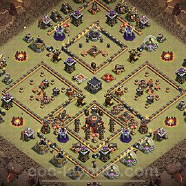 Die Clan War Base RH10 + Link 2020 - COC Rathaus Level 10 Kriegsbase (CK / CW) - #27