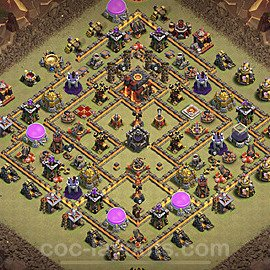 TH10 War Base Plan with Link, Copy Town Hall 10 CWL Design 2021, #50