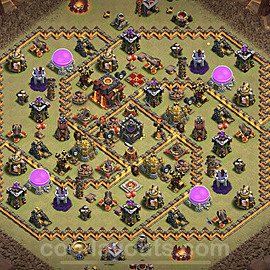 TH10 War Base Plan with Link, Copy Town Hall 10 CWL Design 2021, #51