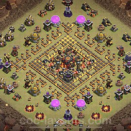 TH10 War Base Plan with Link, Copy Town Hall 10 CWL Design 2021, #53