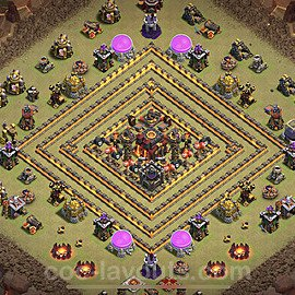 TH10 Max Levels CWL War Base Plan with Link, Copy Town Hall 10 Design 2021, #55