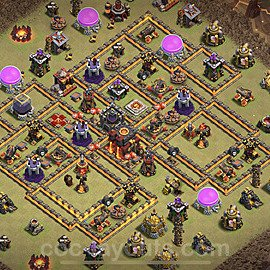 TH10 War Base Plan with Link, Copy Town Hall 10 CWL Design 2021, #57