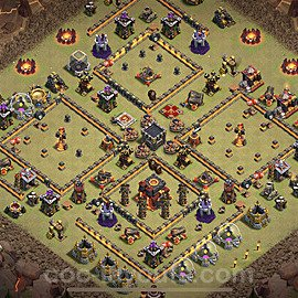 TH10 War Base Plan with Link, Copy Town Hall 10 Design 2020, #6