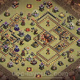TH10 Anti 3 Stars War Base Plan with Link, Copy Town Hall 10 Design 2020, #7